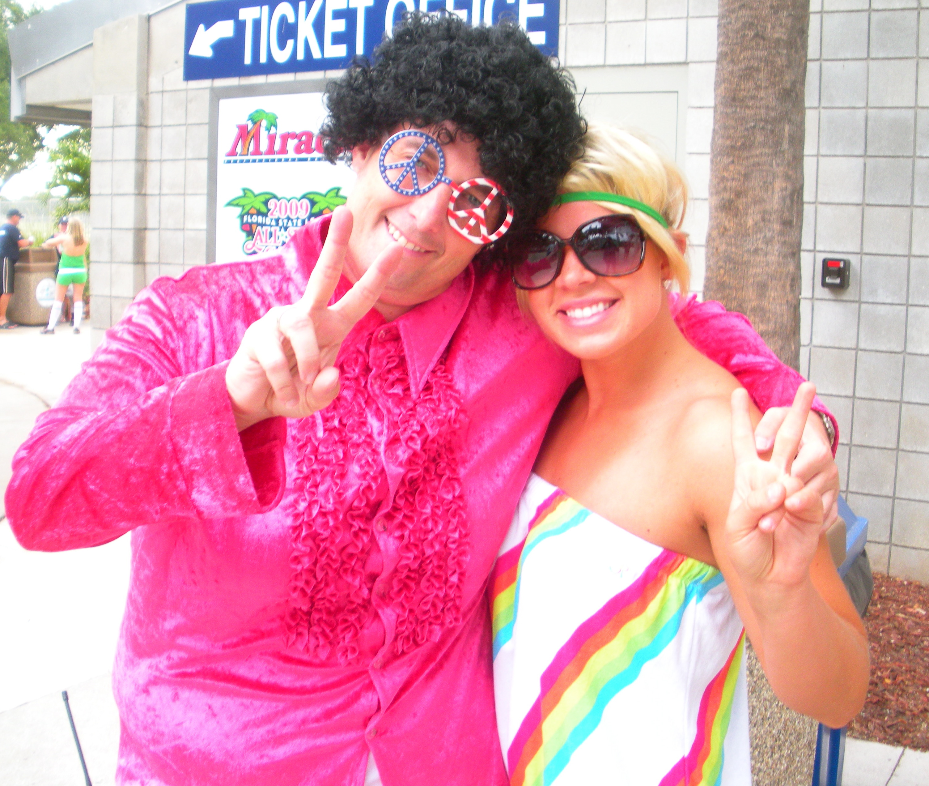 Gary (Media Relations Director) and I! Peace :)