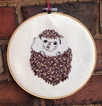 embroidery hoop, freehand machine embroidery, textiles, wall hanging, bedroom