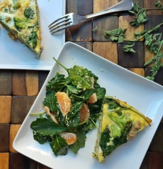Chicken, Sausage, Kale, Broccoli Frittata