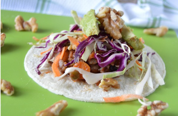 Vegan Tacos with Califeornia Walnuts front