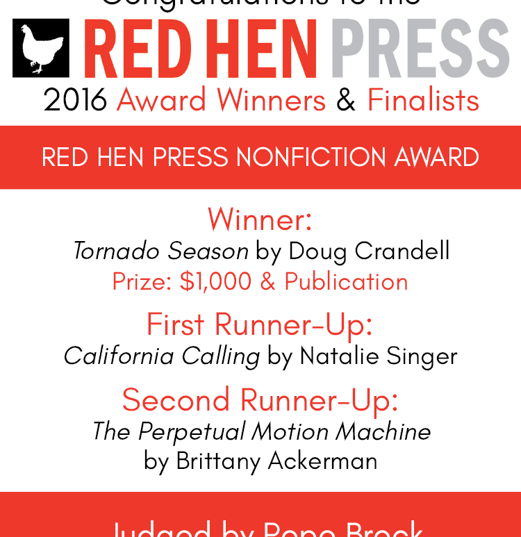Red Hen Press annual nonfiction book contest winners