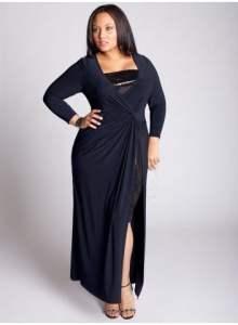Tamsi ilga suknelė