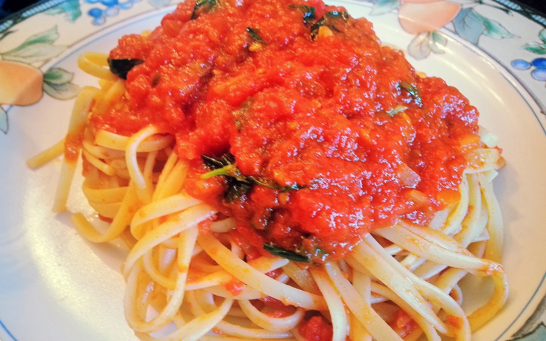 What Italian's crave…Pasta al Pomodoro! (recipe)