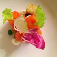 Beautiful salmon arrangement