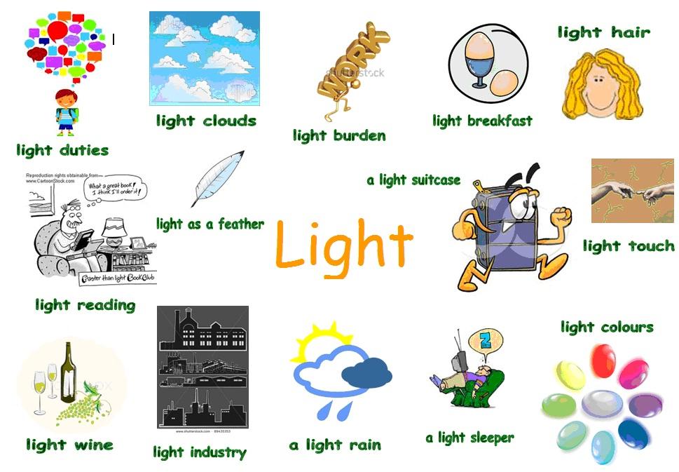 adjectives light enchanting english