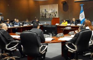 Presidente de Guatemala, Delegacion de la OIT en reunion con Ministros
