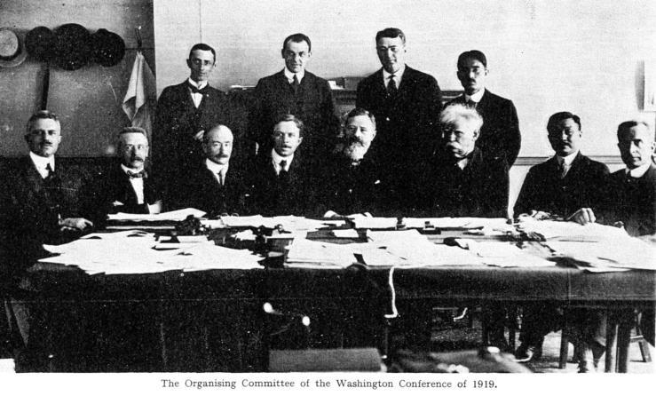 1919-Washington Conference-Ethelwert Stewart et sa moustache blanche