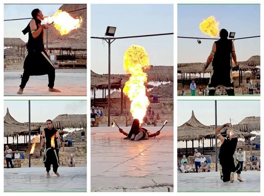 Fire performance, Hurghada safari desert