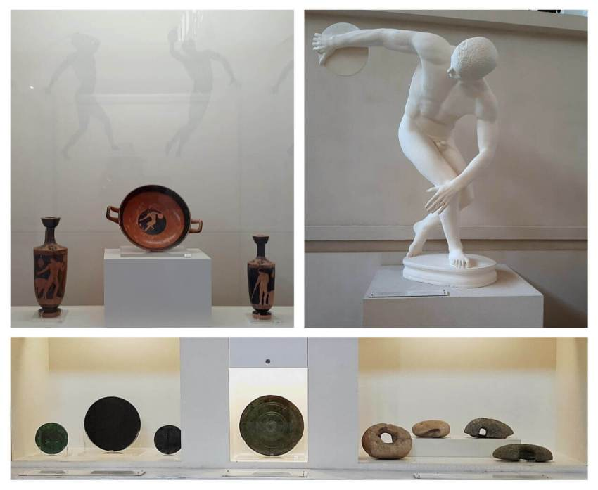 Discus, the Museum of the history of the Olympic Games