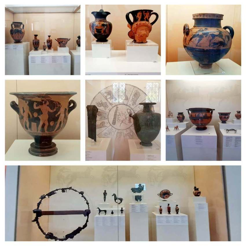 The pottery items, Museum of the history of the Olympic Games