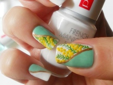 mimosa-nail-art