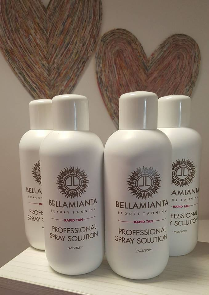Renowned #bloggerfavourite spray tan Bellamianta   With its quick drying formula, Bellamianta spray tan develops in 2-4hours giving a stunning golden olive toned tan ❤ It's water resistant, odour resistant and has an amazing even wear off!   #Bellamianta and #VitaLiberata spray tan are both available here at Natasha Beauty Therapy Swords, only the best for our clients ❤  #bellamianta #spraytan #goldenglow #bellabronzed  #natashabeautytherapy