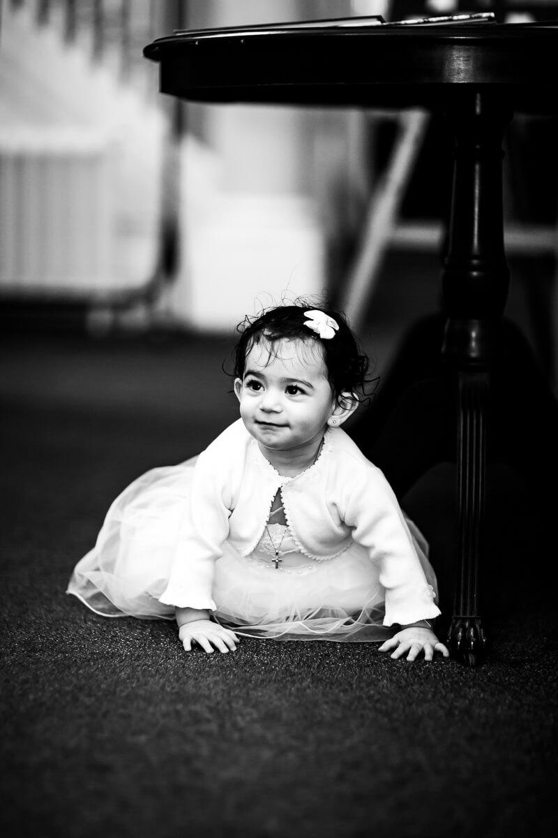 Crawling baby pose baptism