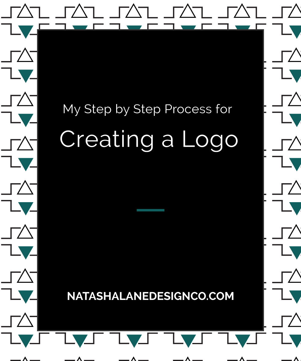 Blog title- My Step by Step Process to Creating a Logo