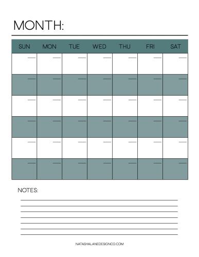Calendar landscape