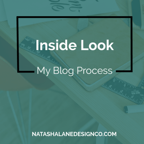 Inside Look: My Blog Process