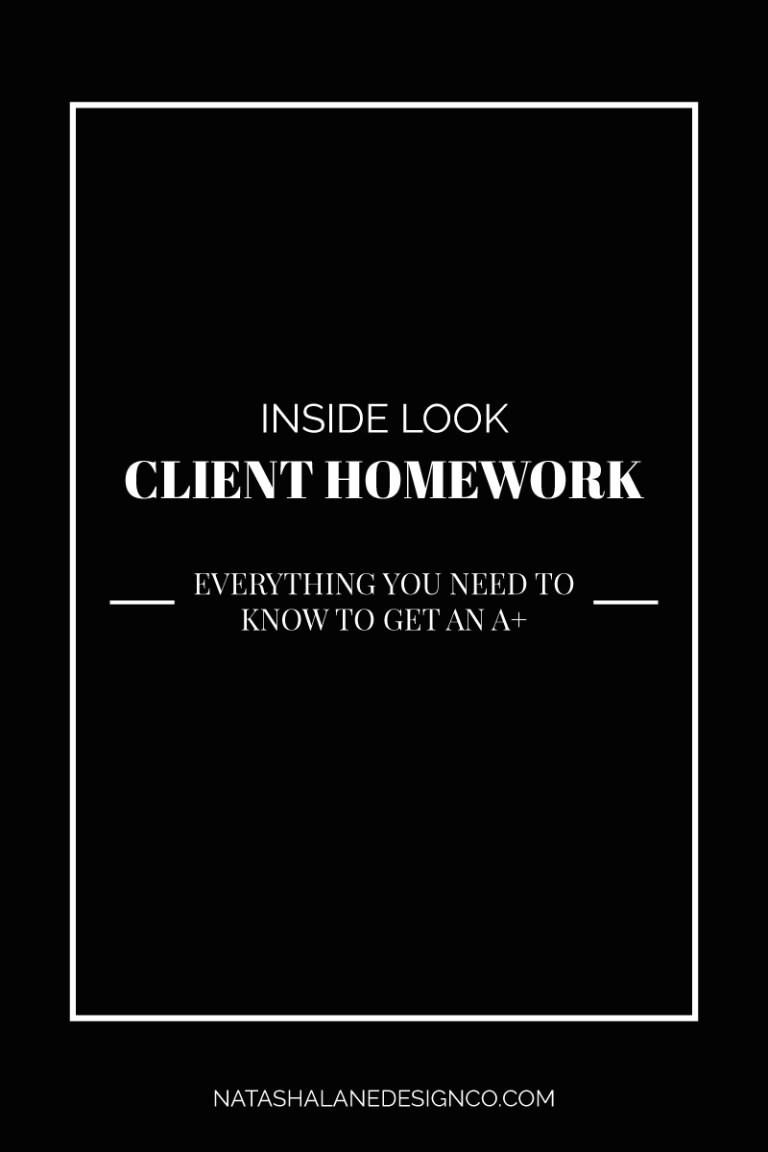 Inside look: Client Homework