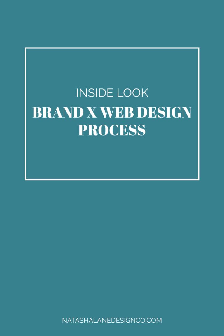 Inside look at my Brand x Web Design Process