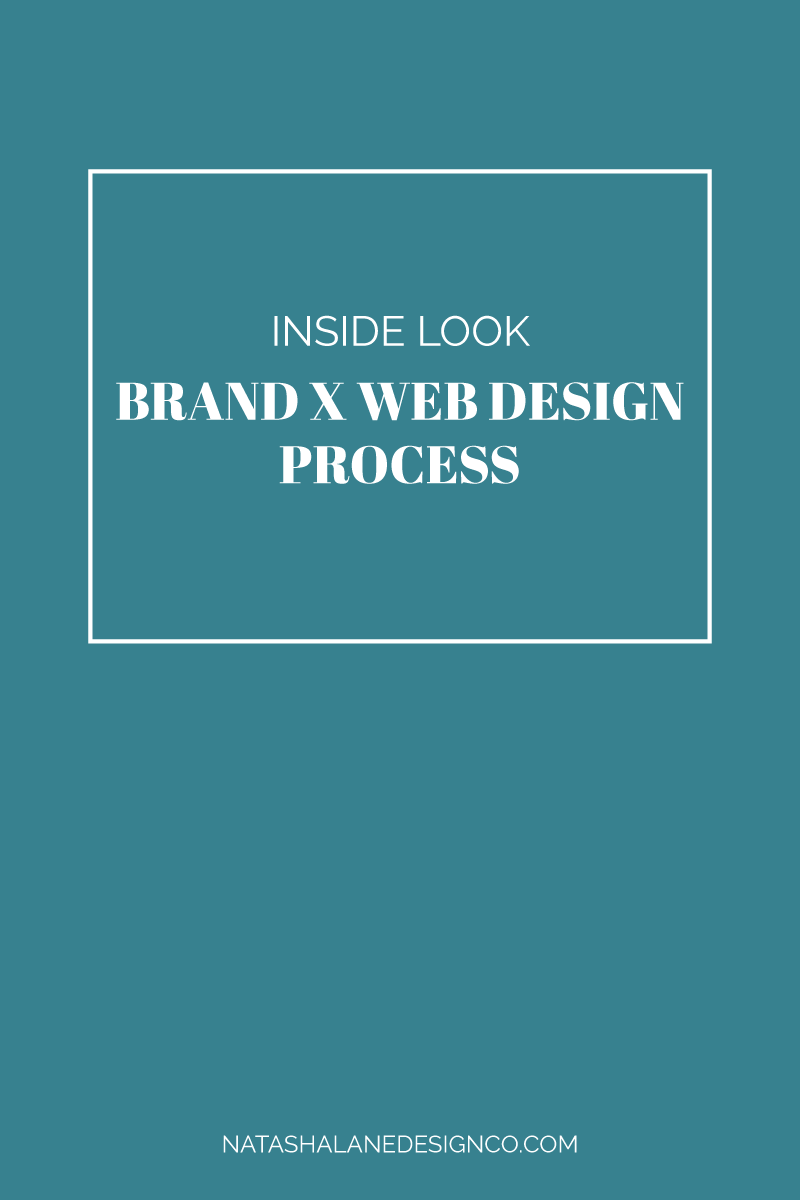 Brand x web design process