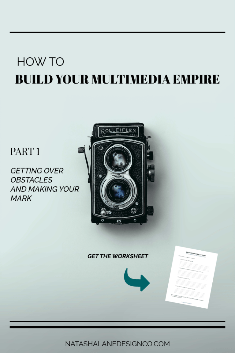 How to build your multimedia empire : Part 1: Getting over obstacles and making your mark
