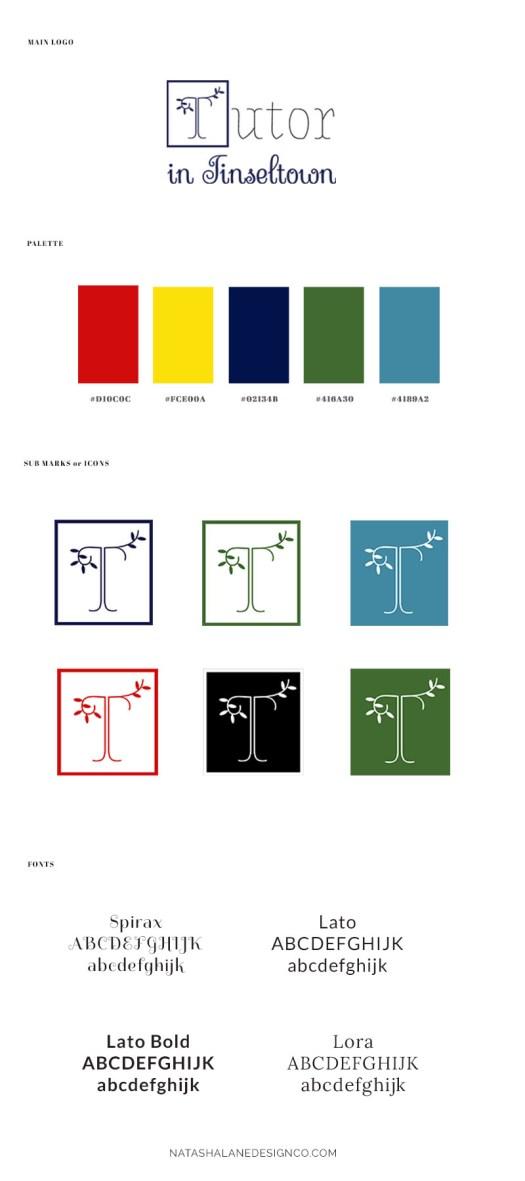 Brand x Web Design for Tutor in Tinseltown brand board