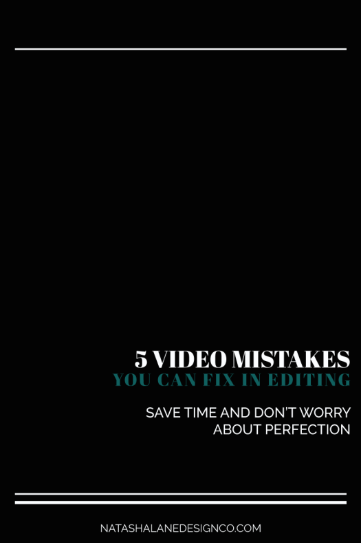 5 video mistakes you can fix in editing