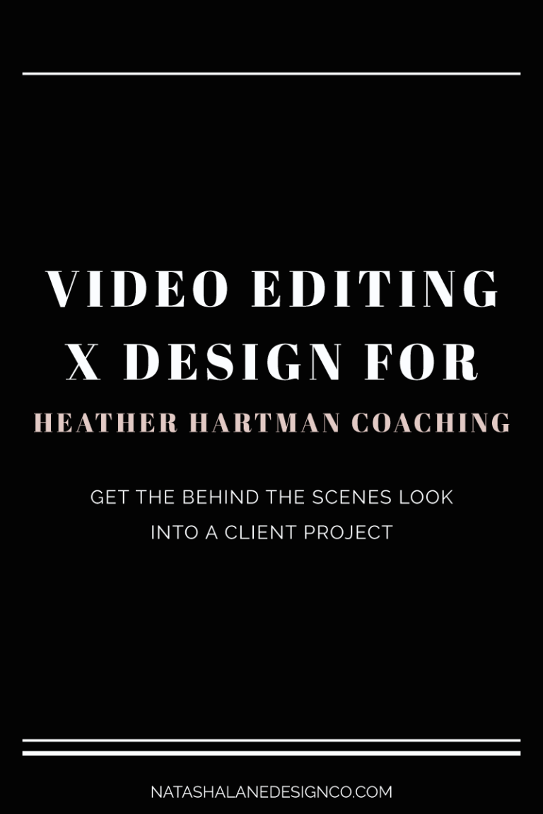 Video Editing and Design for Heather Hartman Coaching
