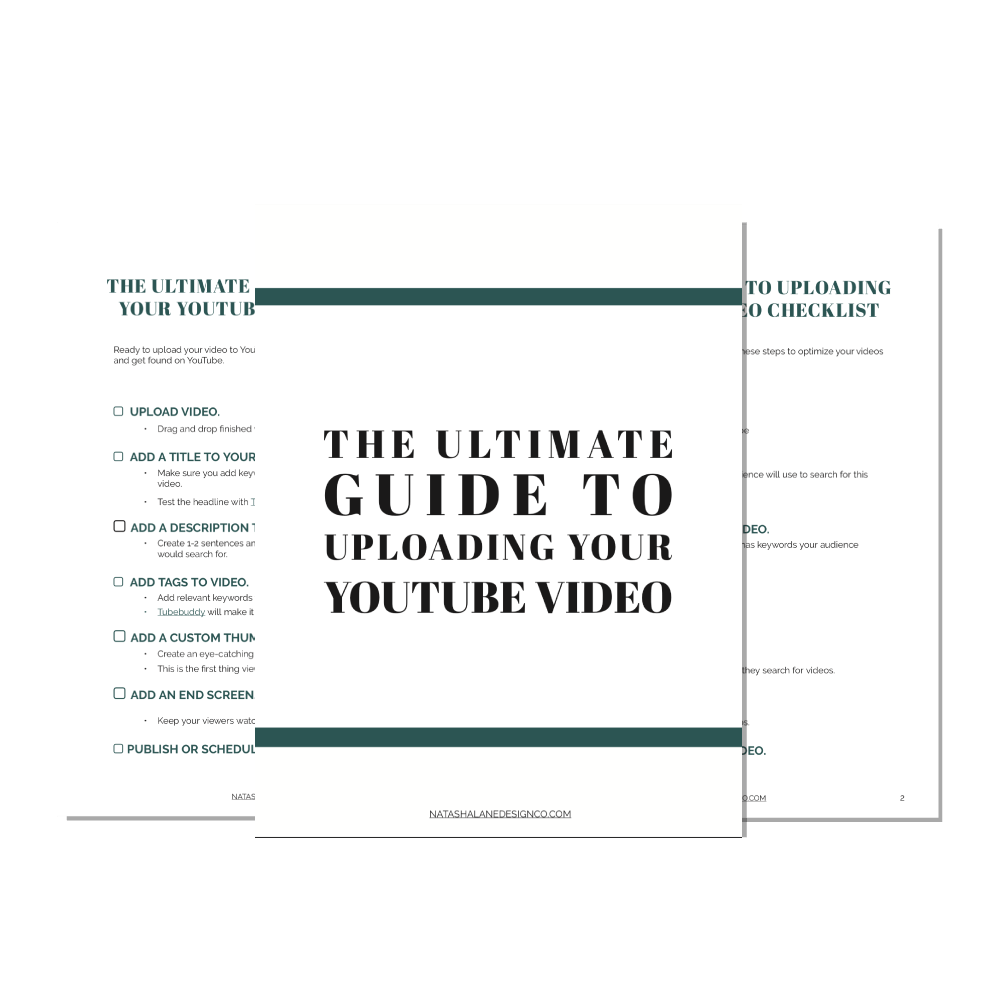The Ultimate Guide to Uploading your YouTube video