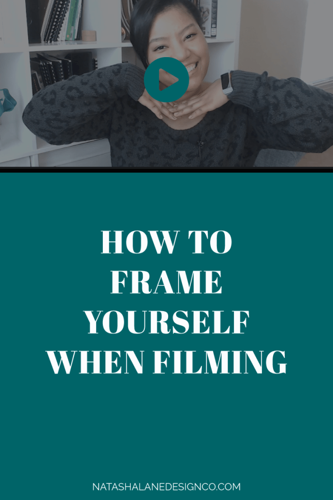 How to frame yourself when filming