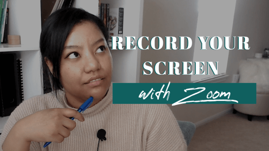 How to record your computer screen using Zoom youtube thumbnail