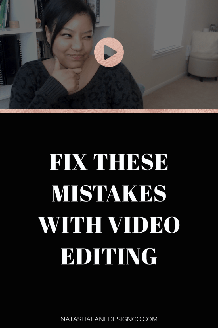 Fix these mistakes with video editing