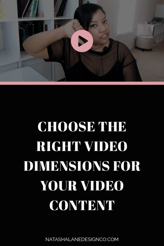 Choose the right video dimensions for video content