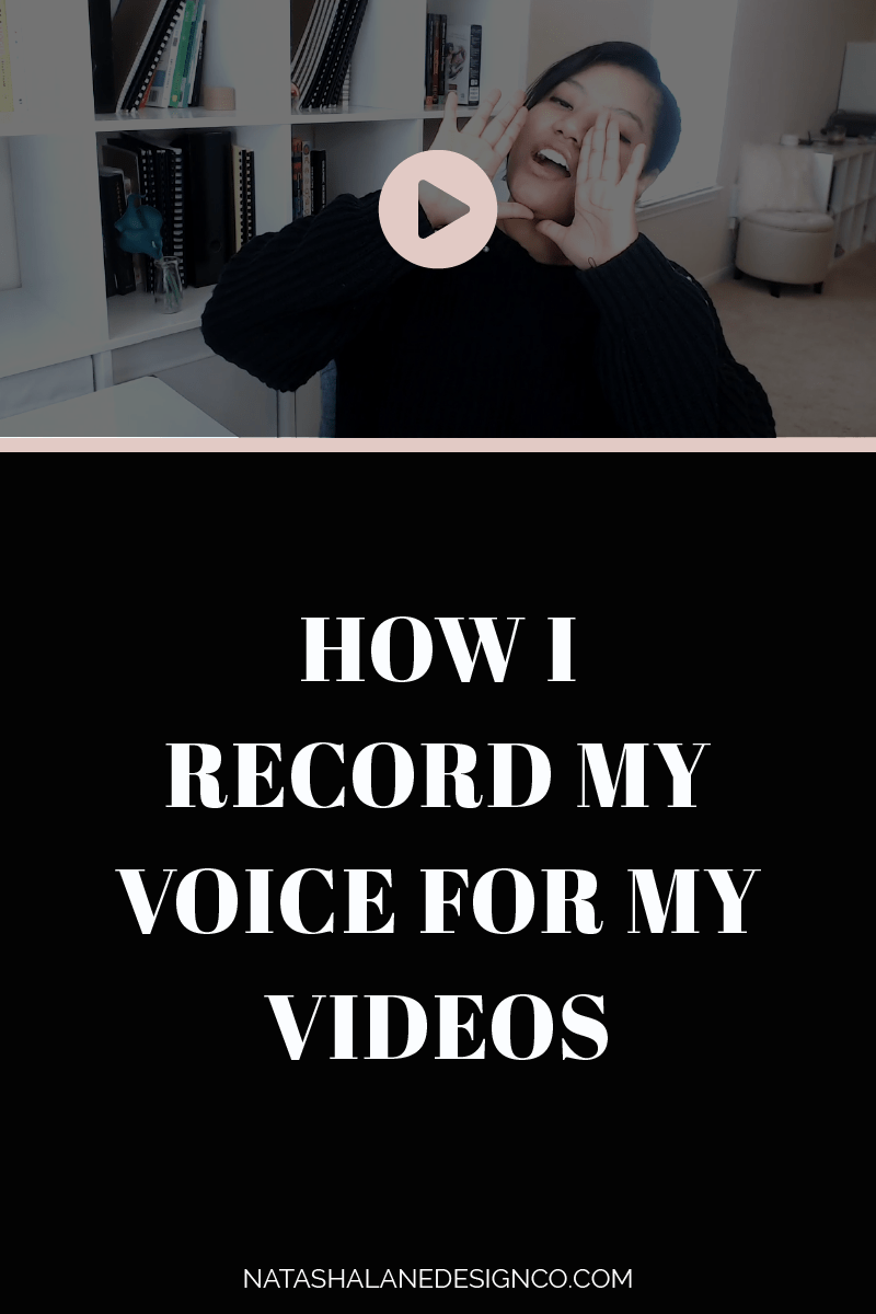 How I record my voice for my videos