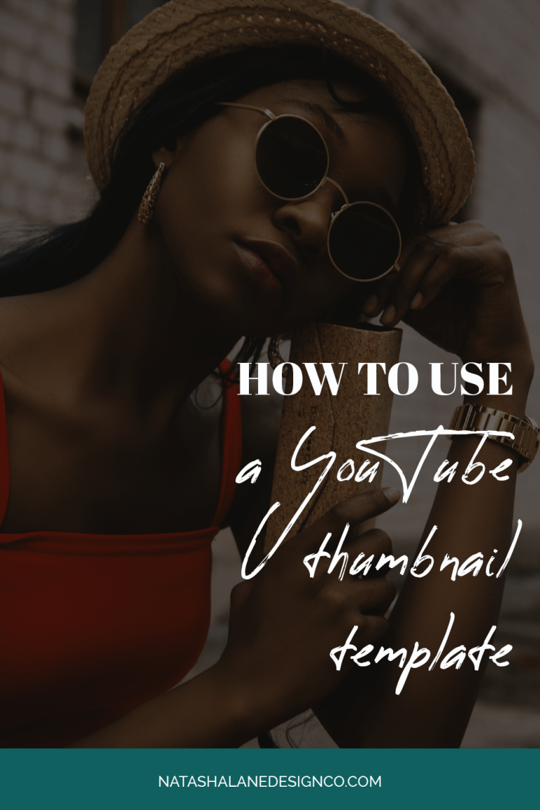 How to use a YouTube Thumbnail Template
