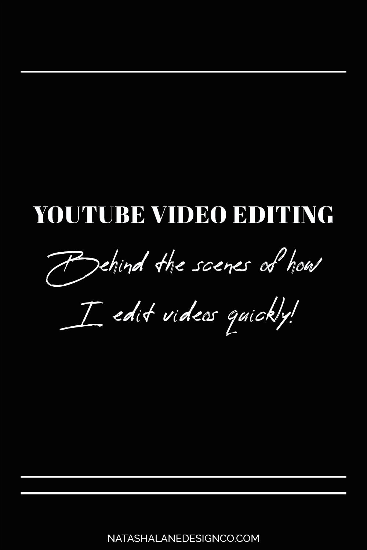 How I edit videos