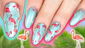 FLAMINGO NAIL ART TUTORIAL Easy Summer Nails Step By