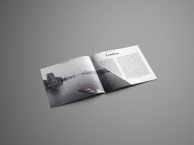 London Double Page Spread - Photography now magazine