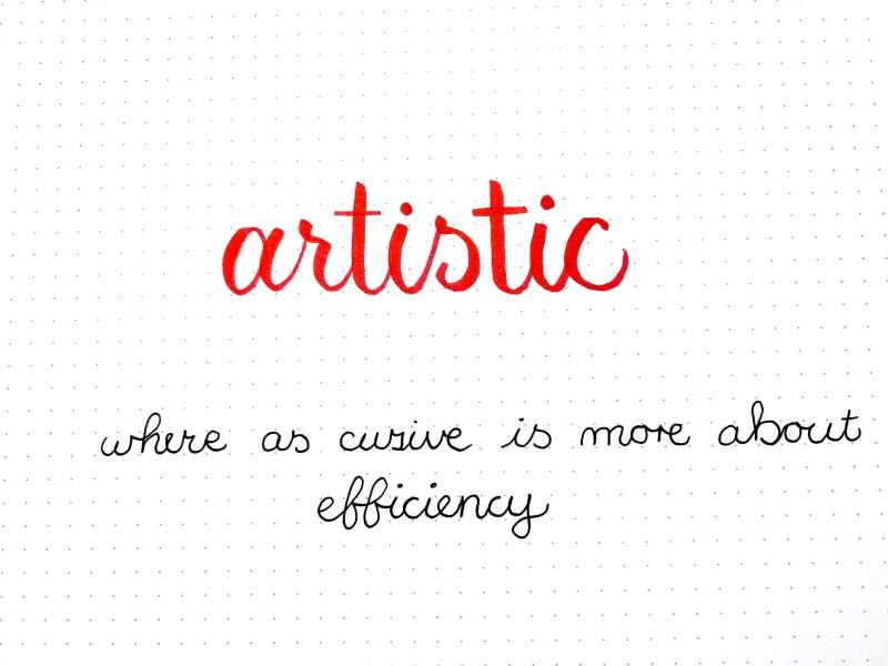 Cursive vs. Calligraphy