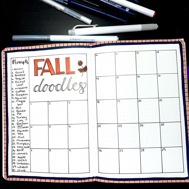 Fall Doodle Page