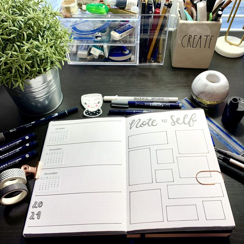Bullet Journal Migration: Note to Self