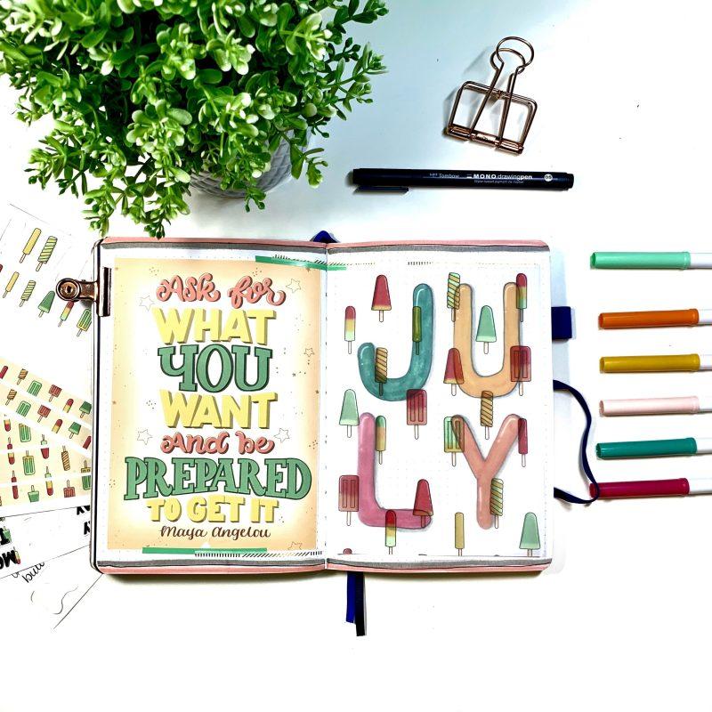 July Bullet Journal Setup