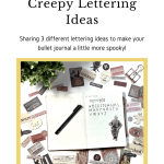 Three lettering ideas for October