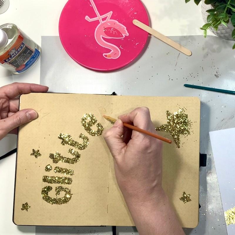 Using Glitter in a Bullet Journal