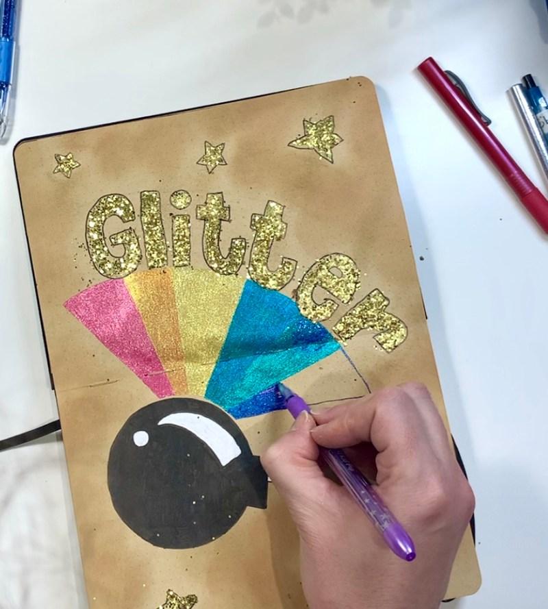 Use Glitter in a Bullet Journal