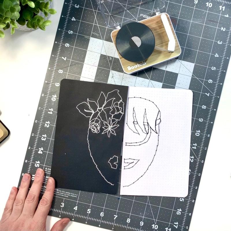 Art Journal in a Bullet Journal
