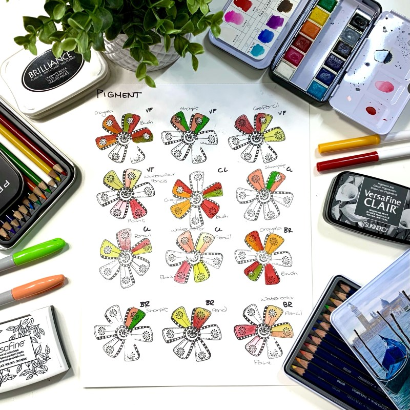 Coloring Pigment Stamp Inks