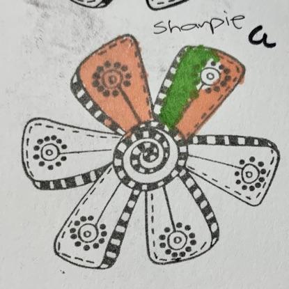 Sharpie on VersaFine Clair Pigment Ink