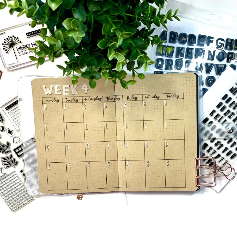Basic Meal Planning Layout