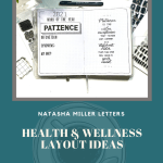 Health and Wellness Journal Layouts