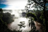 Dusk setting at Iguazu Falls, Brazil